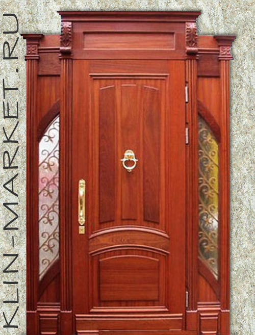 элитные входные двери с элементами ковки