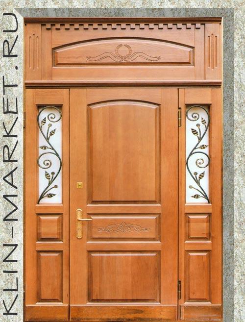 стальные двери массив с ковкой