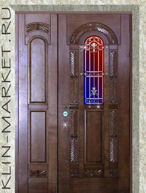 входные металлические двери с массивом